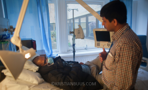 TB patient and nurse
