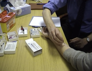 See videos of skin prick testing and other allergy tests on Youtube: http://bit.ly/1uu3qaM
